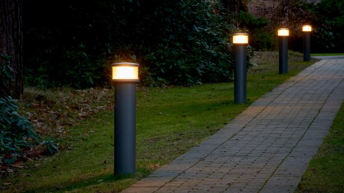 Pharos bollards ensure perfect visual comfort to guide pupils in the dark at St Marys Ascot